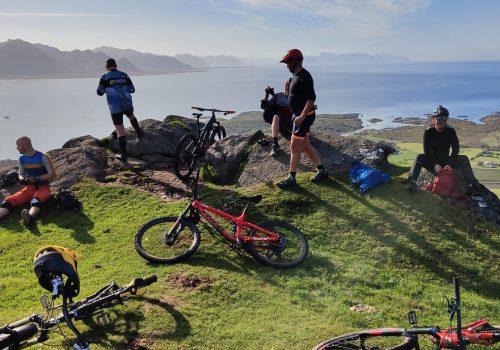 Himmel og hav for et sykkellandskap. Foto: Bent Ebeltoft